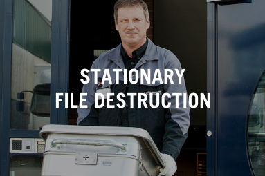 Stationary file destruction